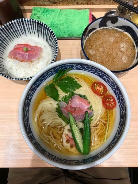 「金目鯛のつけそば 1,200円」@寿製麺 よしかわ 西台駅前店の写真