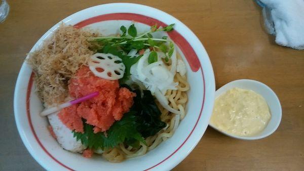 「福岡 稚加榮 (現地にて買い出し)  明太粒子和え蕎麦 B」@MENYA 食い味の道有楽の写真