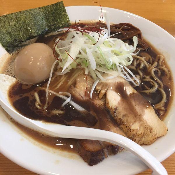 「濃口味噌中華そば  味玉クーポン」@下町中華そば すずめ食堂の写真