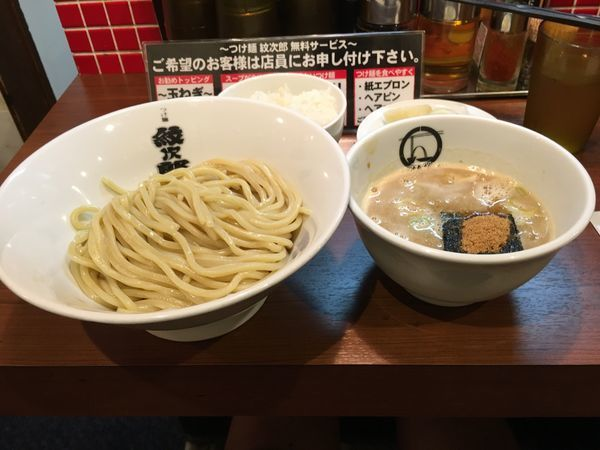 「つけ麺セット」@つけ麺 紋次郎 大阪駅前第二ビル店の写真