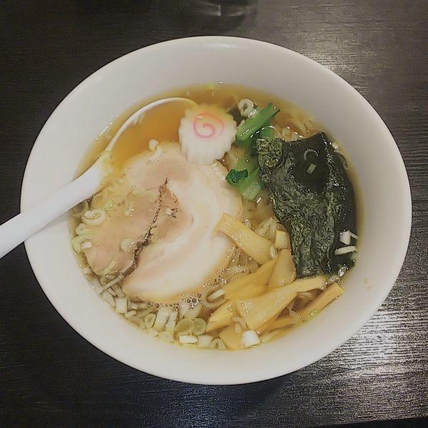 「佐野ラーメン(しょうゆ・麺カタメ)」@佐野ラーメン・佐野黒から揚げ 進ちゃんの写真