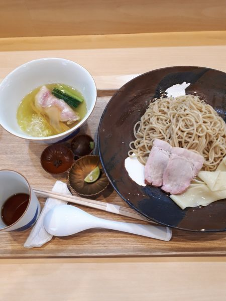 「つけ麺 塩1500円   お出汁割200円」@らぁ麺 飯田商店の写真