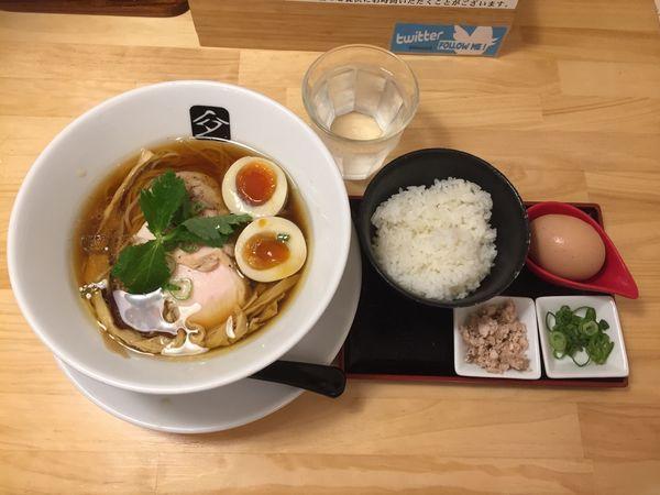 「特製鶏の中華そば+こだわり卵のTKG」@中華そば 髙野の写真