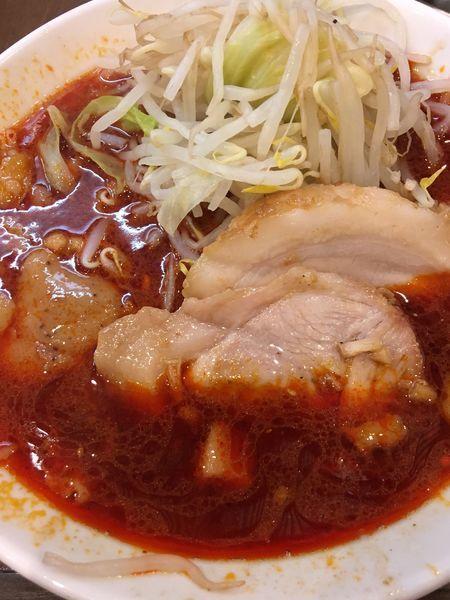 「辛い小つけ麺(ヤサイ、ニンニク)」@麺屋 歩夢の写真