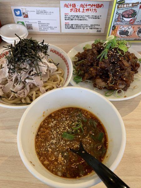 「肉汁らない冷やしつけ麺 レベル2」@肉汁麺ススム 秋葉原本店の写真