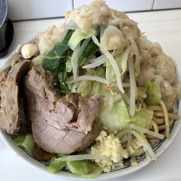 「ラーメン(野菜、アブラ、ニンニク少し)」@ラーメン三郎 もくて庵の写真