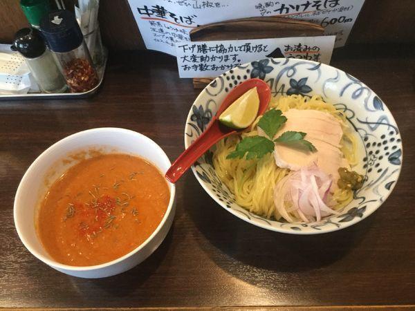 「【限定】エキゾチック鯖トマト冷やしつけ麺(¥880)」@中華そば 東京ぐれっちの写真