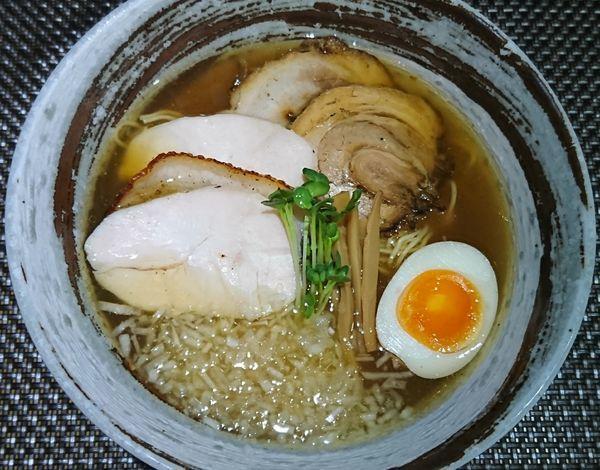 「石釜あご出汁麺 ¥980」@西山屋の写真