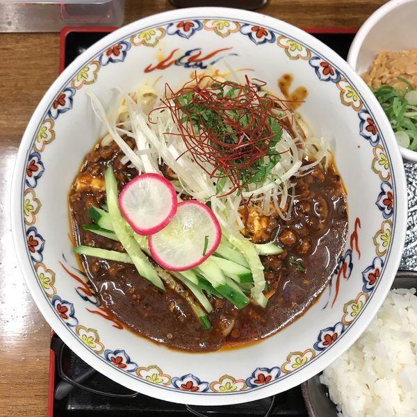 「冷やし麻婆麺」@辛っとろ麻婆麺 あかずきん 蒲田店の写真