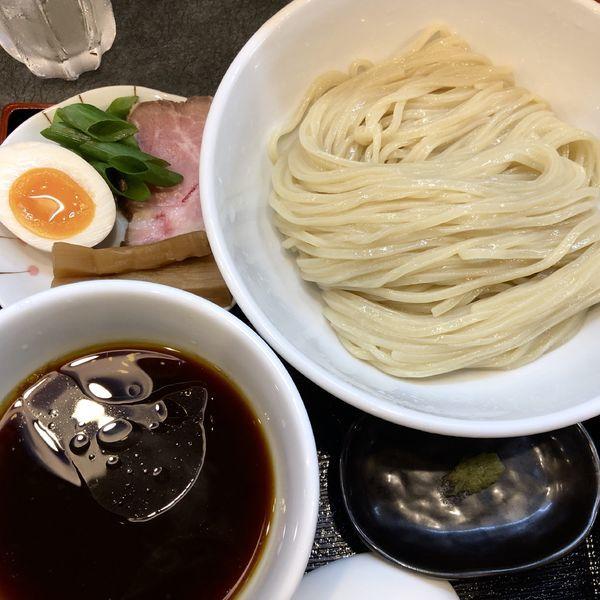 「丸醤油つけ麺+ビンビール(中)」@らぁ麺 幸跳の写真
