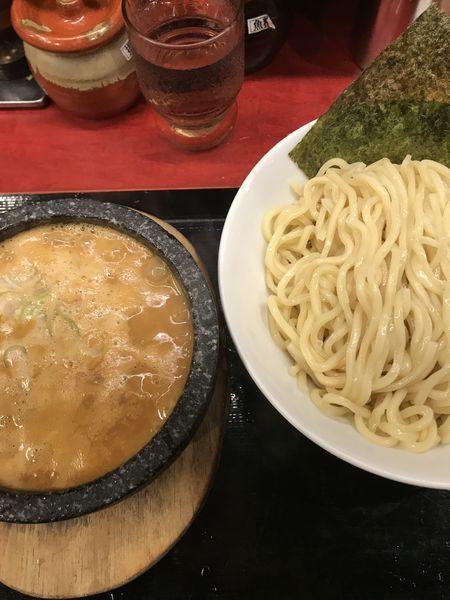 「味噌つけ麺、大盛り」@つけ麺屋 のぶなが 北口店の写真