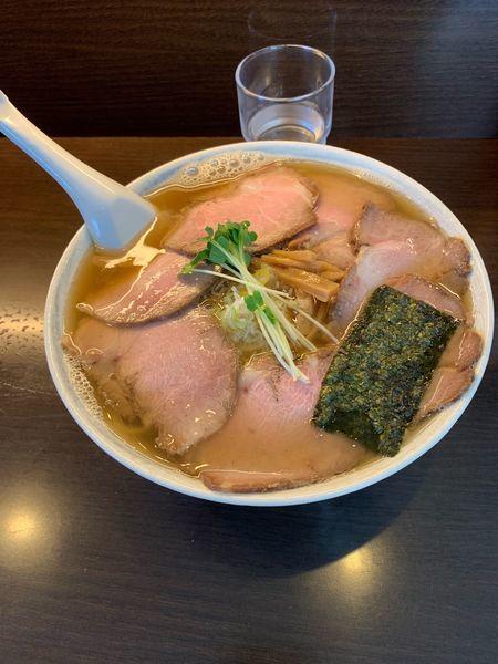 「煮干しらーめん大盛り+ チャーシュー」@川喜屋の写真