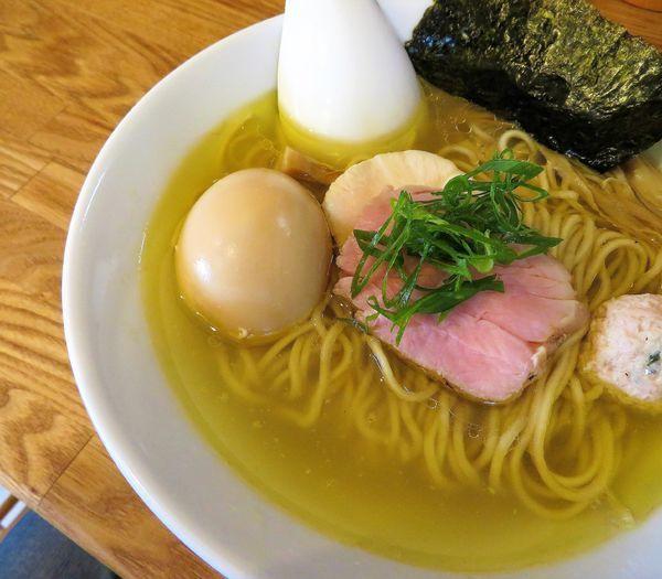 「味玉地鶏塩(850円)」@自家製麺 純の写真