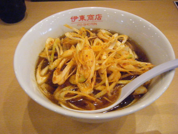 「魚介辛ネギ醤油」@東京餃子食堂 久米川店の写真
