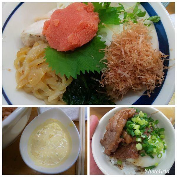 「稚加榮明太粒子和え蕎麦 B」@MENYA 食い味の道有楽の写真