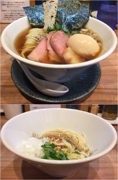 「特製煮干しソバ+あえ玉」@中華ソバ 篤々 TOKU-TOKUの写真