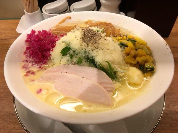 「アサヒスーパードライ生ジョッキ→トウモロコシの冷やしらぁめん」@箸とレンゲの写真