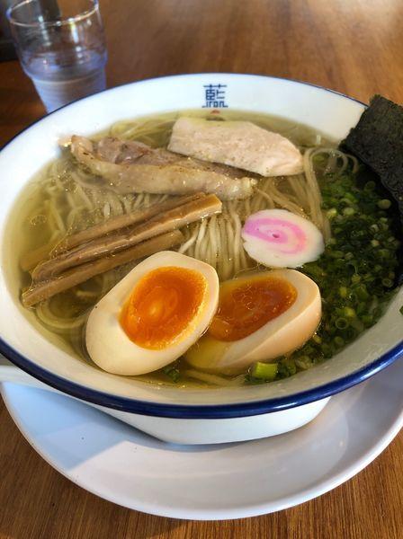 「味玉塩ラーメン」@阿波尾鶏中華そば 藍庵の写真