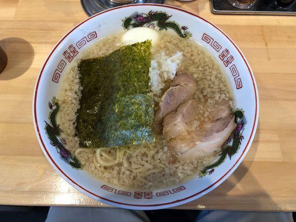 「背脂正油」@ザ・東京豚骨ラーメン屋 SAKU 牛久店の写真