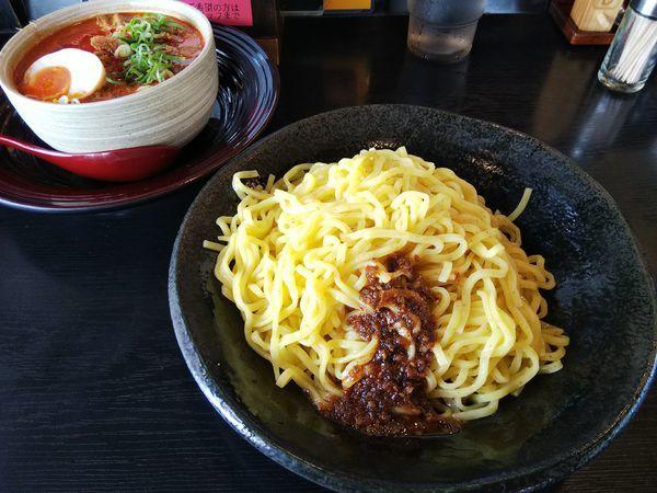 「【限定】辛シビたれ味噌つけ麺 (特盛380g:同価格)」@ハルピン味噌らーめん 雷蔵の写真