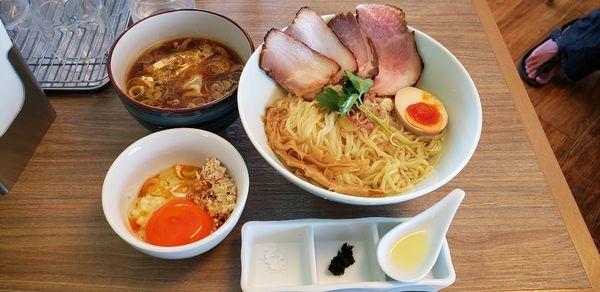 「特製昆布水つけ麺 ラー油玉子かけごはん」@中華そば 和渦 TOKYOの写真