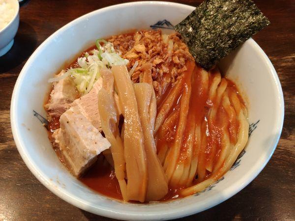 「期間限定 冷やし濃厚海老トマト麺」@つけ麺 ジンベエの写真
