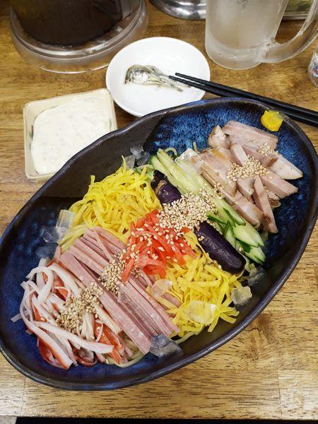「冷やし中華850円」@中華蕎麦 丸め 東久留米店の写真