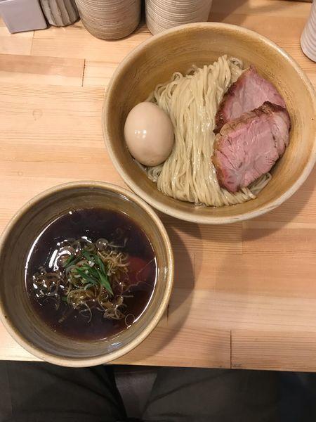 「鰹昆布出汁特製醤油つけ麺 1100円」@迂直の写真