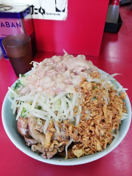 「小豚+冷たい汁なし 940円」@ラーメン二郎 中山駅前店の写真