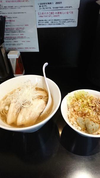「煮干中華そばNORMAL+ニボバタご飯」@煮干中華そば のじじR 本所吾妻橋の写真