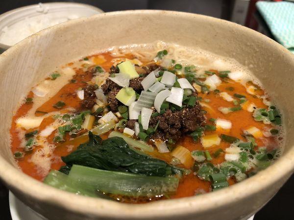 「担々麺+ライス」@うずまき 別館の写真
