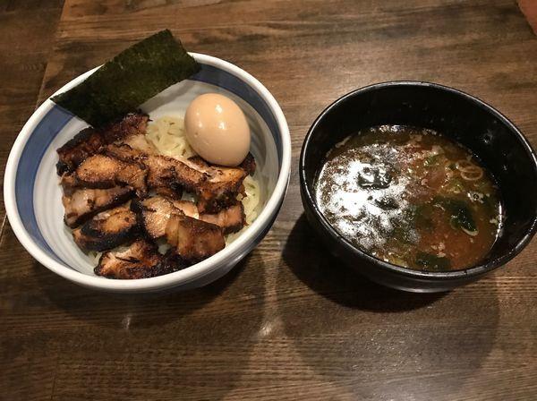 「肉つけそば並 煮玉子 ¥1390」@中華そば しんの助の写真