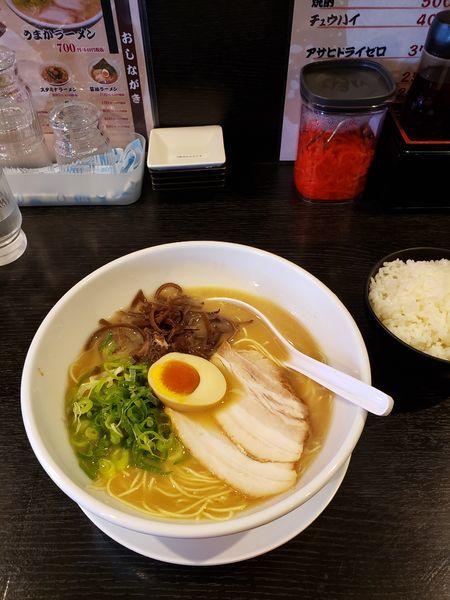 「唐揚げセットうまかラーメン」@麺屋うまか 近江八幡店の写真
