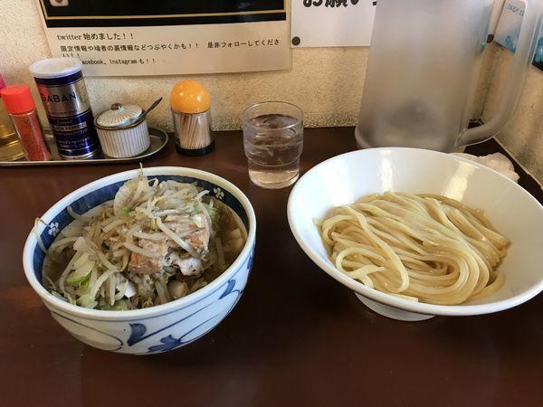 「野菜つけ麺 (麺少なめ)」@ラーメン ひかりの写真