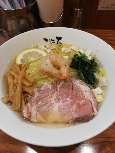 「【週替り】冷やし海老塩ラーメン」@日本橋麺処 こはるの写真