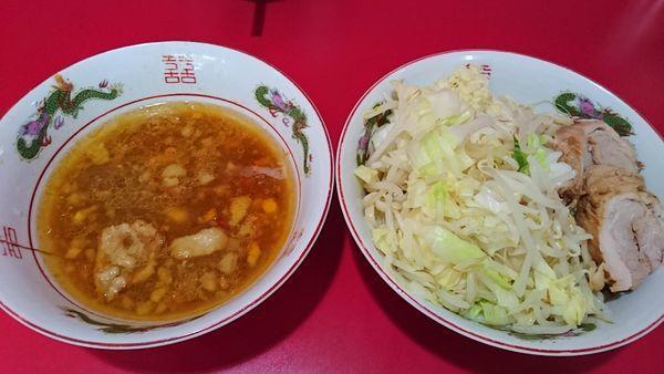 「小 + つけ麺 紅葉卸し」@ラーメン二郎 札幌店の写真