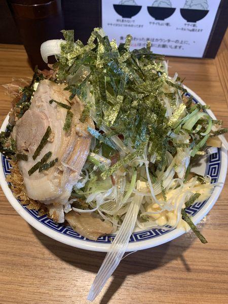 「冷やし中華 並  豚 味ネギ」@びんびん豚の写真
