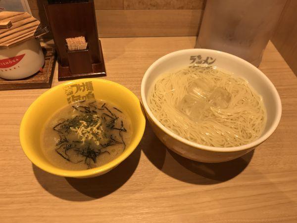 「冷製鶏魚介つけ麺」@ラーメン海鳴 名古屋驛麺通り店の写真