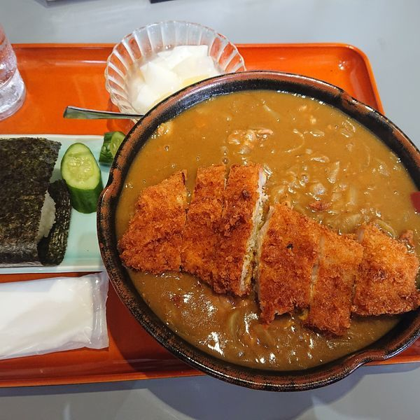 「カツカレーラーメンセット」@食堂 ニューミサの写真