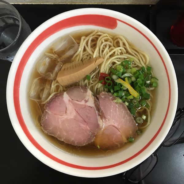 「アゴだし冷やしめん」@自家製麺SHINの写真