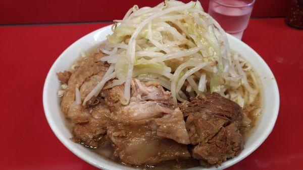 「小ラーメン+豚増し」@ラーメン二郎 西台駅前店の写真