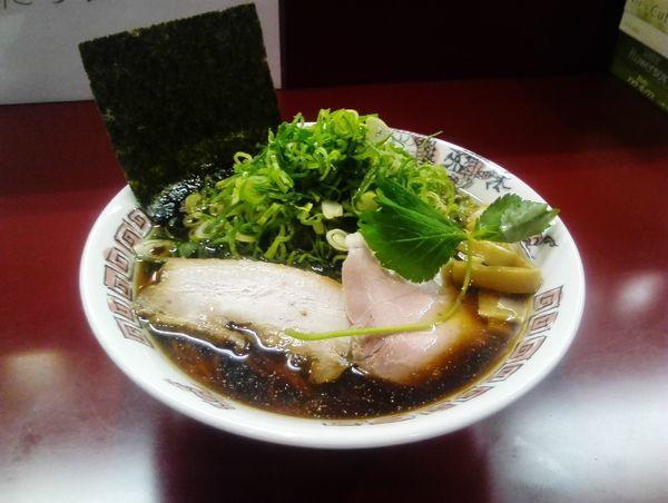 「煮干しらーめん 九条ねぎトッピング」@らーめん ふじとんぼの写真