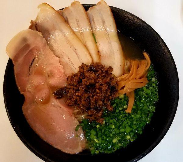 「青鬼(特盛)麺250g」@自家製中華そば 麺の虜の写真
