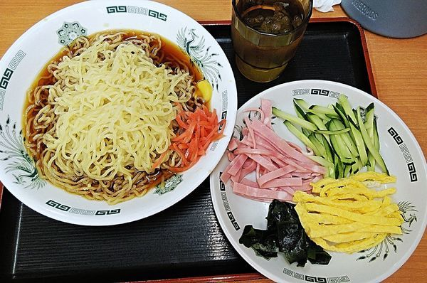 「黒酢しょうゆ冷やし麺 530円」@日高屋 九段下店の写真