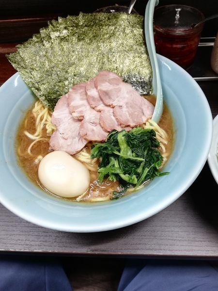 「海苔たまチャーシュー麺 1、5玉 1200円」@横浜家系らーめん 五十三家の写真
