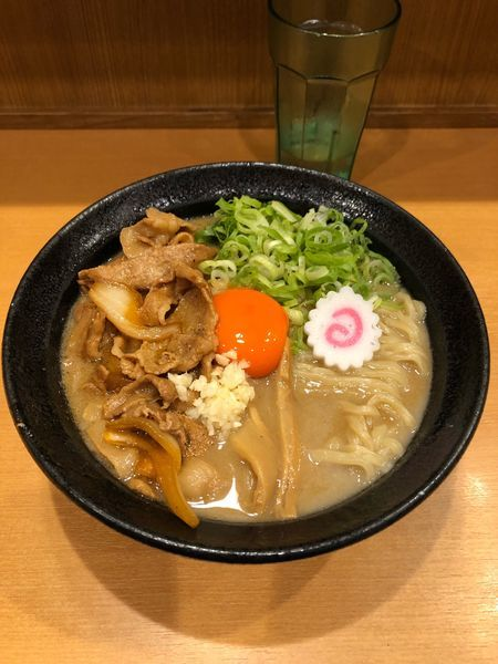 「肉玉そば(830円)  ニンニク入り」@肉玉蕎麦 おとど 北松戸総本山の写真
