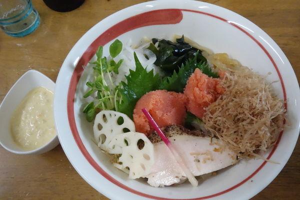「【限定】稚加榮明太子粒子和え蕎麦B」@MENYA 食い味の道有楽の写真