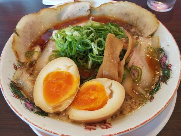 「チャーシュー麺 +味玉:サービス券」@豪堅ラーメンの写真