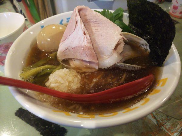 「特製魚貝煮干し中華そば980円」@つけ麺屋 丸孫商店の写真