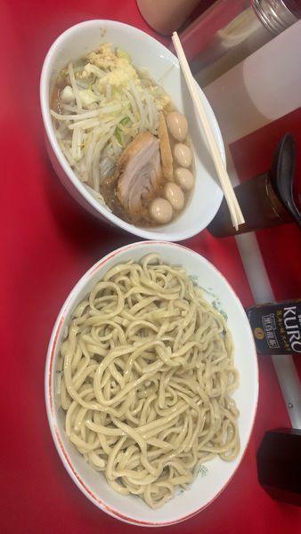 「つけ麺+うずら」@ラーメン二郎 湘南藤沢店の写真